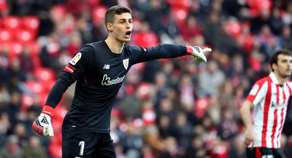 El portero del Athletic, Kepa Arrizabalaga. (EFE)