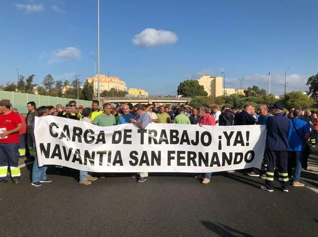 Fotografía facilitada por el comité de empresa de Navantia. (EFE)